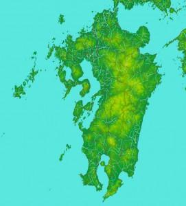 地図は『カシミール3D』を利用しました。