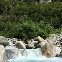 梓川のきれいな水にびっくり