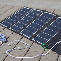 充電は太陽光発電で