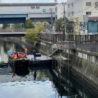 運河を利用した物資輸送