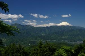 明王峠から富士山